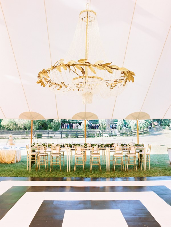Goodstone Inn Wedding Tent Dance Floor Chandelier