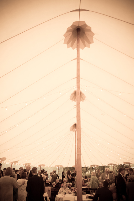 skyline tent wedding