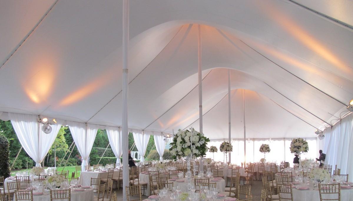 Interior of 40x100 Century Pole Tent