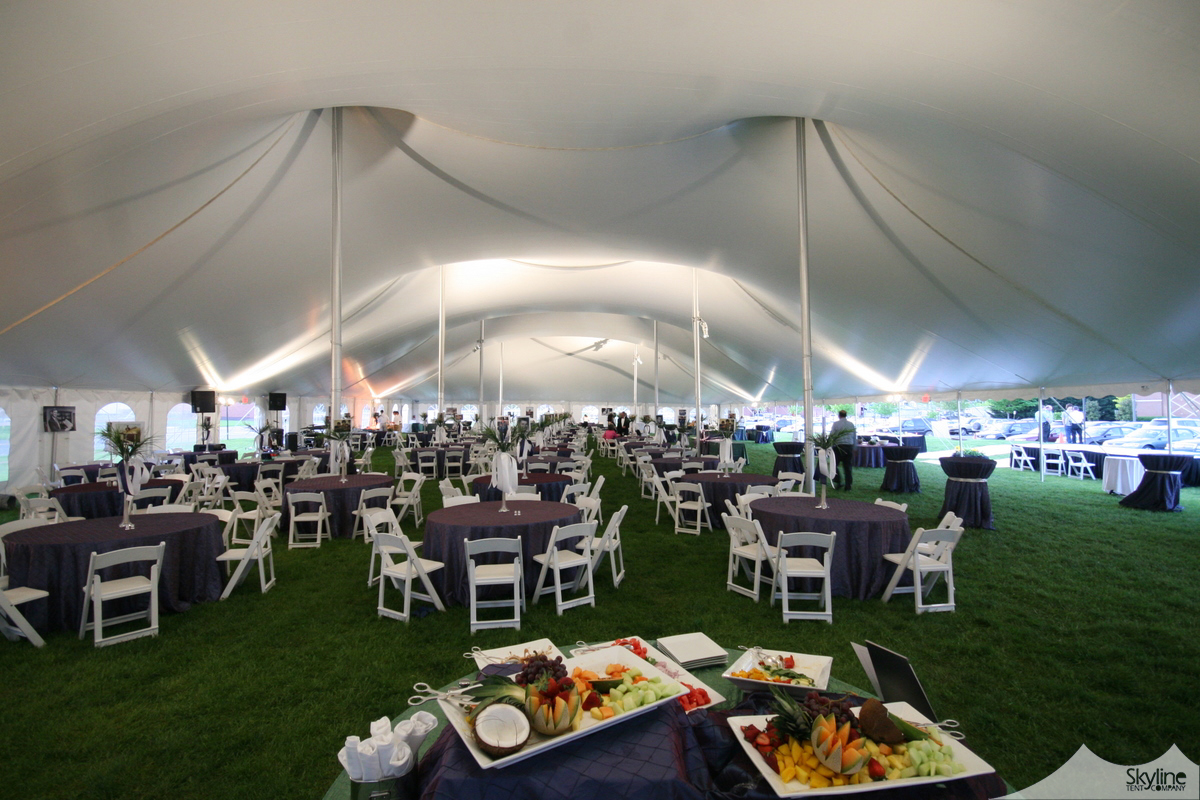 80W Century Pole Tent with Wash of Light in Tent Ceiling