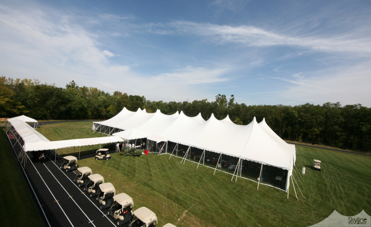 80x190 Century Pole Tent with Entrance Marquee