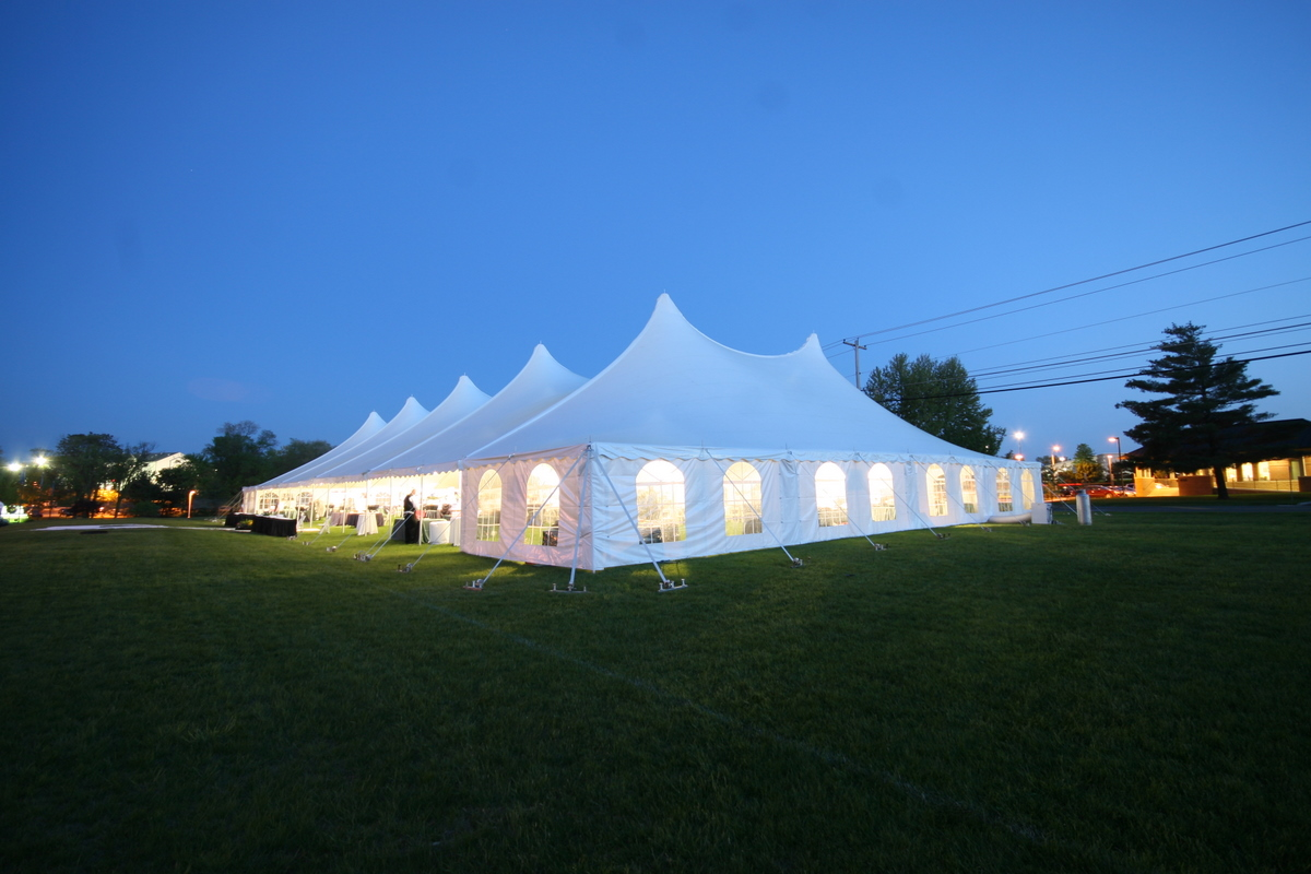 60W Century Pole Tent with Cathedral Window Sidewall