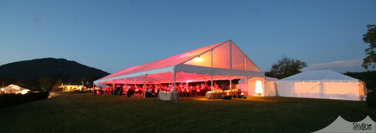 50x120 Clear Top Navitrac Structure Tent u003cGable Endu003e & Skyline Tent Company » Structure u0026 Frame Tents